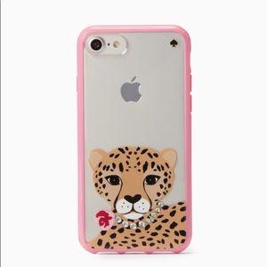 Kate spade iPhone 7/8 plus case jeweled leopard